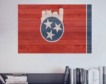 Tennessee Flag | Tennessee | Tennessee Art | Wall Decal | Vinyl Decals | Flag Decals | Vinyl Flags | Flag Decor | Vinyl Flag | Rustic