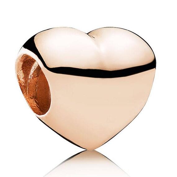 pandora rose gold heart clips