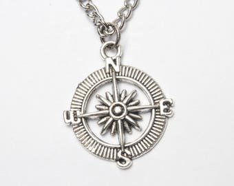 Compass necklace working compass necklace compass necklace silver compass necklace compass jewelry grad gift silver compass jewelry birthstones personalized compass charm necklace with birthstone aloadofball Choice Image