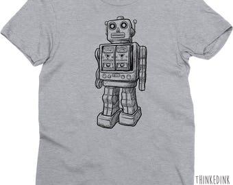 Robot Shirt Tshirt T-shirt Tee V-neck Tank Top  Gifts for Girlfriend Boyfriend Robotics Engineering Geek Nerd Geekery Sci Fi SCience IT Boy