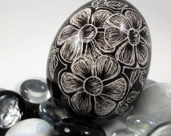 Pysanky, Pisanki, Ukrainian Egg, Polish Easter Egg, Lithuanian Egg, Easter Egg, Ukrainian Easter Egg, Scratched Egg, Pysanky Egg, Black