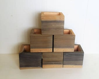 6X Wood Planter Boxes Wedding Centerpiece | Cedar Flower Box Set | Wedding Table Decor | Rustic Wedding Decor | Rustic Wedding Centerpieces
