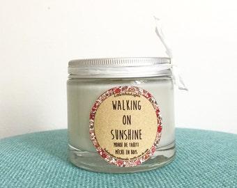 "Natural scented candle ""Walking on sushine"" / Tahiti's monoï"