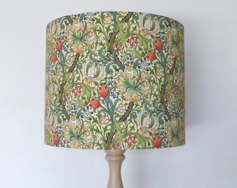 Lamp shades etsy au william morris golden lily lampshade floral vines vintage wallpaper style handmade in australia aloadofball Choice Image
