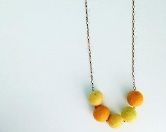 Southport Felt Necklace - Pineapple