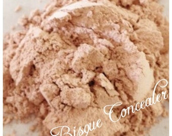 BISQUE CONCEALER Organic Minerals Cover up Foundation Regular and Fair shades Prep Vegan