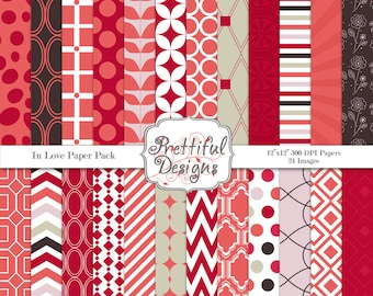 Digital Valentine Paper Pack Commercial Use