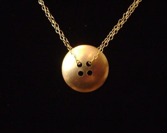 Brass Button Necklace
