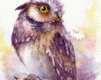 Sparkling eyes - ORIGINAL watercolor painting 7.5x11 inches