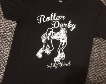 Roller Derby Safety Third Tshirt