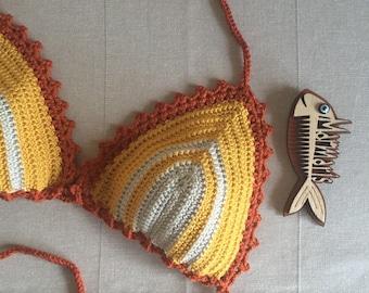 Top Festival Bikini Top Women Swimwear Swimsuit Crochet Bathing Suit Boho Bikini Festival Top  Beach Fashion Women accessories // Gloveshop