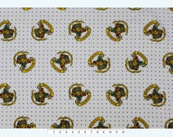 NEW!!  Harry Potter Hogwarts Crest FLANNEL Fabric sold by the yard