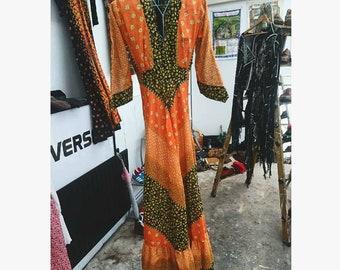 Gorgeous vintage 1970s floral Boho gypsy Maxi dress