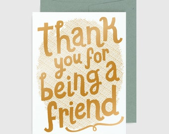 Thank You Card - Thank You for Being a Friend