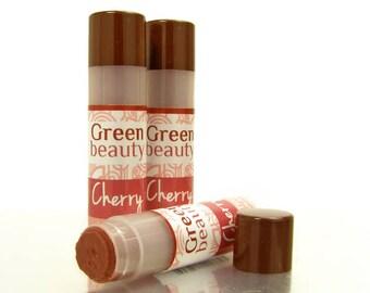 Tinted lip balm, Cherry, natural lip balm, lip color, sheer lip tint, lip tint, lip balm, colored lip balm, mineral makeup, beeswax lip balm