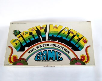 Vintage 1970 Dirty Water The Water Pollution Game Board Game