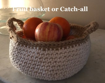 Basket Bowl  for fruit, or a catch all.