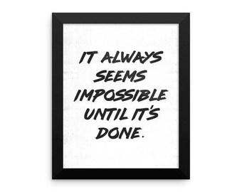 Printable Inspirational Mandela Quote Art Print
