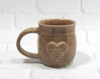 Ceramic Mug - Pottery Mug - Sweetheart Mug - Heart Mug - Ceramic Coffee Cup - Ceramic Mug - Tea Mug