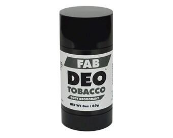TOBACCO Natural Deodorant Deoderant Stick Vegan