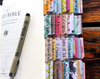 Full Set Bible Tabs w/Laminating Stickers