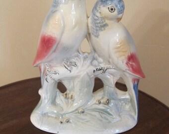 Vintage Unmarked Royal Copley Parakeet Birds