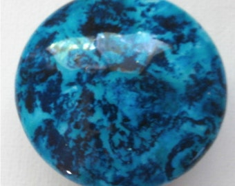 Custom made One of a Kind Furniture and Cabinet Knob-Dark Turquoise and black