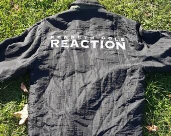 Vtg  Reversible Kenneth Cole Reaction Jacket sz large black / olive
