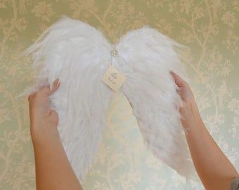 Feather Angel Wings, Large Angel Wings, Angel Wings Wall Decor, Christmas Gift, Feder Engelsflügel