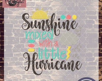 Sunshine Mixed With a Little Hurricane with SVG, DXF, PNG, Eps Commercial & Personal Use