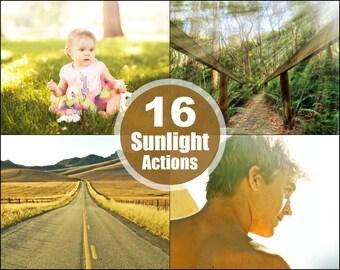 Sunlight Sunray Photoshop Elements Actions