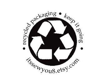 Recycled Packaging keep it going custom Rubber Stamp