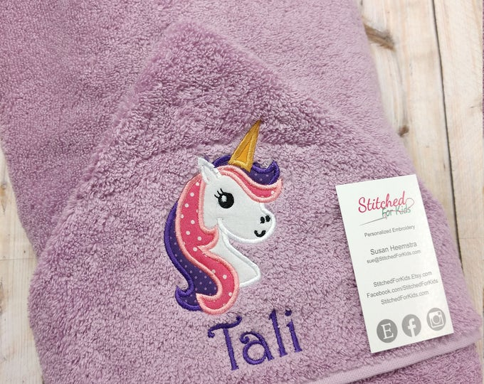 Personalized Unicorn Hooded Towel, Be a Unicorn Towel, Unicorn Magic Towel, Unicorn Gift, Unicorn Party Gift