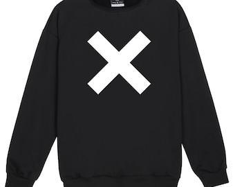 Cross Sweater Jumper Womens Ladies Fun Tumblr Hipster Swag Fashion Grunge Kale Punk Retro Vtg Top Slogan Cute Goth Music Band X Festival