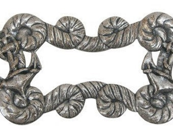 Nautical Medallion, Anchor Medallion, Silver Medallion, Naval Medallion, Vintage Medallion