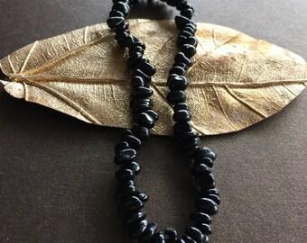 Black Tourmaline Anklet, Black Tourmaline Ankle Bracelet