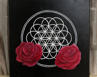Flower of Life Painting Nature Roses