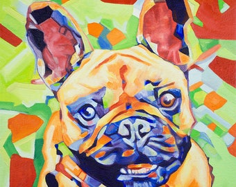 Pop Art Frenchie 1 Abstract Prints - Museum Quality Fine Art Giclée Prints