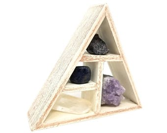 ELEVATING INTUITION Crystal Healing Kit / Third eye Stones and Geometric Shelf / 3rd eye chakra meditation gift set crown - 27