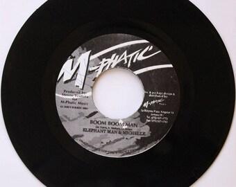 Elephant Man, Boom Boom Man, M-Phatic Music, Jamaica 90s Dancehall Reggae 45rpm