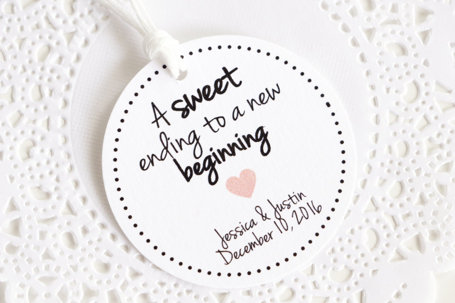 Personalized Wedding Thank You Tags, A sweet ending to a new ...