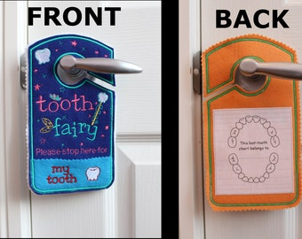 tooth chart, Tooth fairy pillow alternative, tooth fairy please stop here, custom name tooth fairy door hanger, personalized tooth pocket