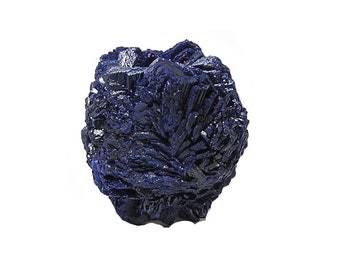 Azurite Indigo Blue Crystal Blossom, Collector's Mineral Specimen, Semiprecious Natural Gemstone, Wear it or Display it, Rosette Cluster