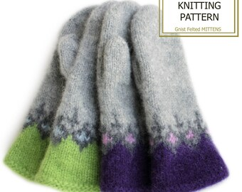Knitting pattern -Gnist Felted mittens