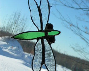 dragon fly, stained glass suncatcher