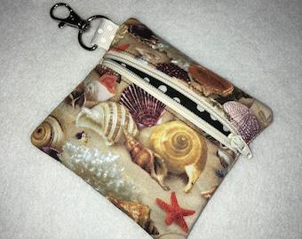 Earbud/Coin Purse Beach Fabric