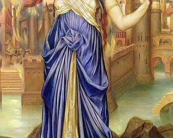 Evelyn De Morgan: Cassandra - Pagan & Goddess fine art giclee reproduction