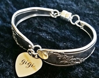 Gigi Spoon bracelet in Queen Bess pattern, Mother's day, ready to ship, free shipping and gift box