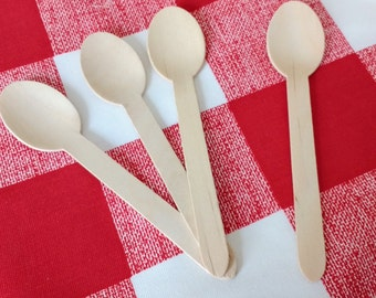 Wooden Spoons, 25 Disposable Wooden Spoons
