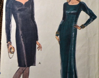 Vintage Evening Dress  Sewing Pattern Vogue 7891   Size 6-8-10 Bust 30 - 32 inches Complete